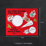 Customised Christmas Eve Placemat - Father Christmas & Friends
