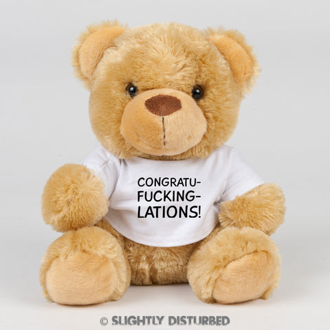 Congratu-fucking-lations Swear Bear - Rude Bears - Slightly Disturbed