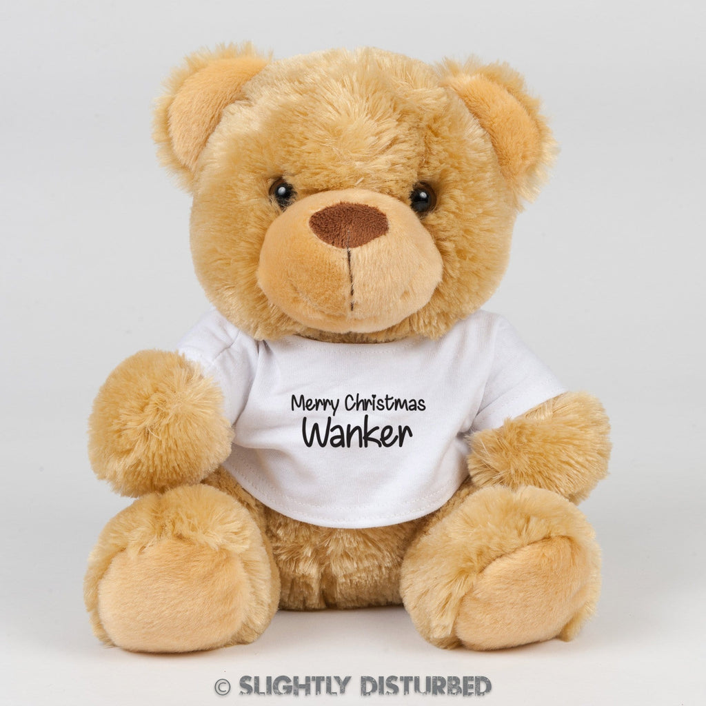 Merry Christmas Wanker Swear Bear - Rude Bears - Slightly Disturbed