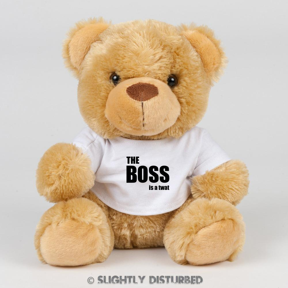The Boss Is A Twat Swear Bear - Rude Bears - Slightly Disturbed