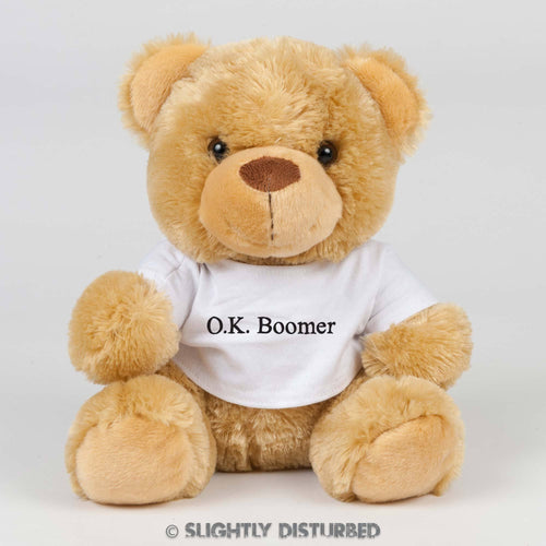 OK Boomer Teddy Bear - Cuddly Toys - Slightly Disturbed