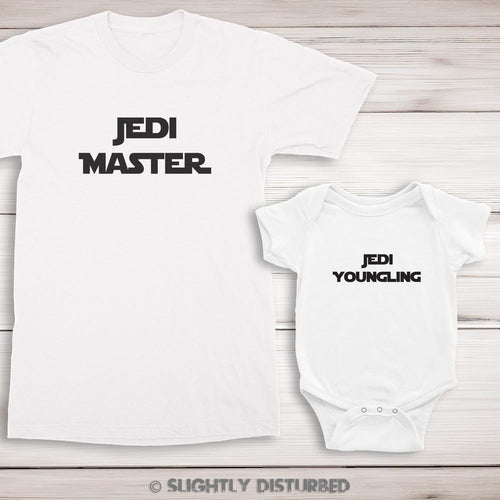 Jedi Master and Youngling T-Shirt and Babygrow Set - Slightly Disturbed