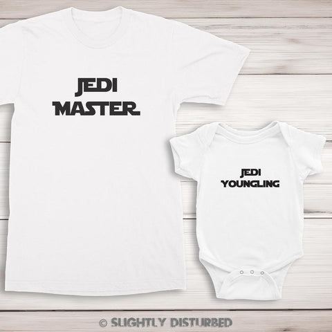 Jedi Master and Youngling T-Shirt Set - Slightly Disturbed
