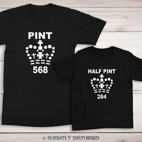 Pint and Half Pint T-Shirt Set - Slightly Disturbed