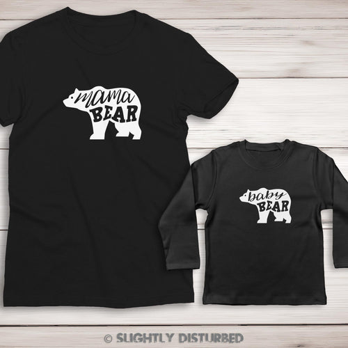 Mama Bear and Baby Bear T-Shirt Set - Slightly Disturbed