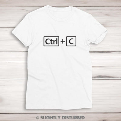 Ctrl+C and Ctrl+V Ladies T-Shirt Set - Slightly Disturbed