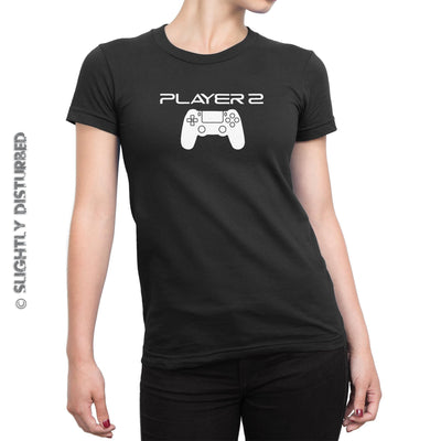 PS4 Player 1 and 2 Men and Ladies T-Shirt Set - Slightly Disturbed