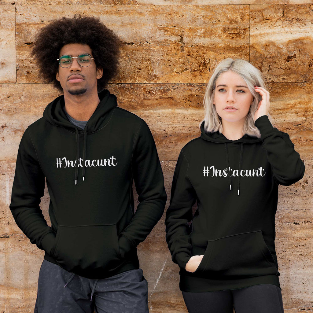 Instacunt Hoodie - Black - Rude Hoodies - Slightly Disturbed