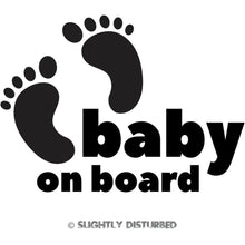 Load image into Gallery viewer, Baby On Board Toes Vinyl Sticker