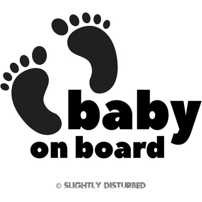 Baby On Board Toes Vinyl Sticker