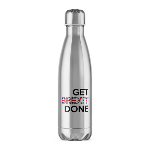 Get Brexit Done Water Bottle - Novelty Gifts - Slightly Disturbed