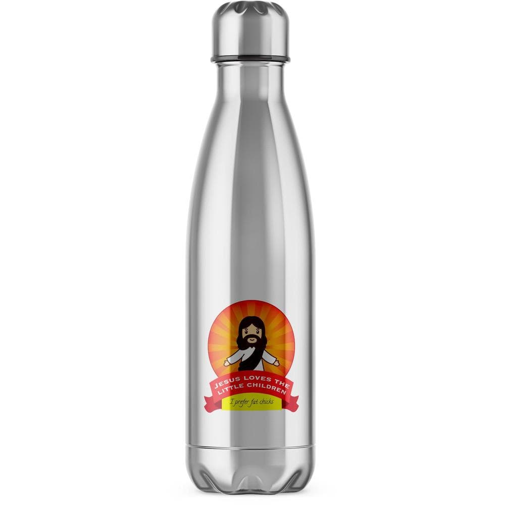 Jesus Loves The Little Children Water Bottle - Rude Gifts - Slightly Disturbed