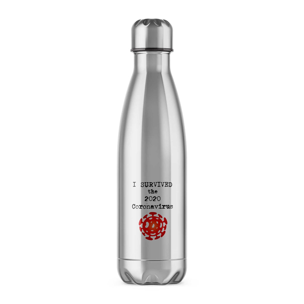 I Survived the 2020 Coronavirus Water Bottle - Offensive Gifts - Slightly Disturbed