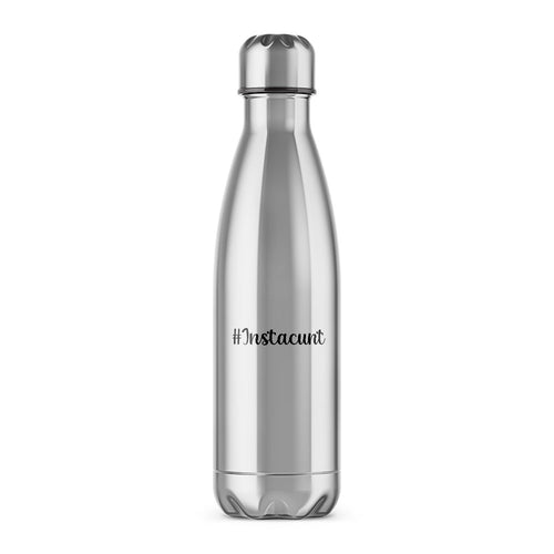 Instacunt Water Bottle - Silver - Rude Water Bottles - Slightly Disturbed