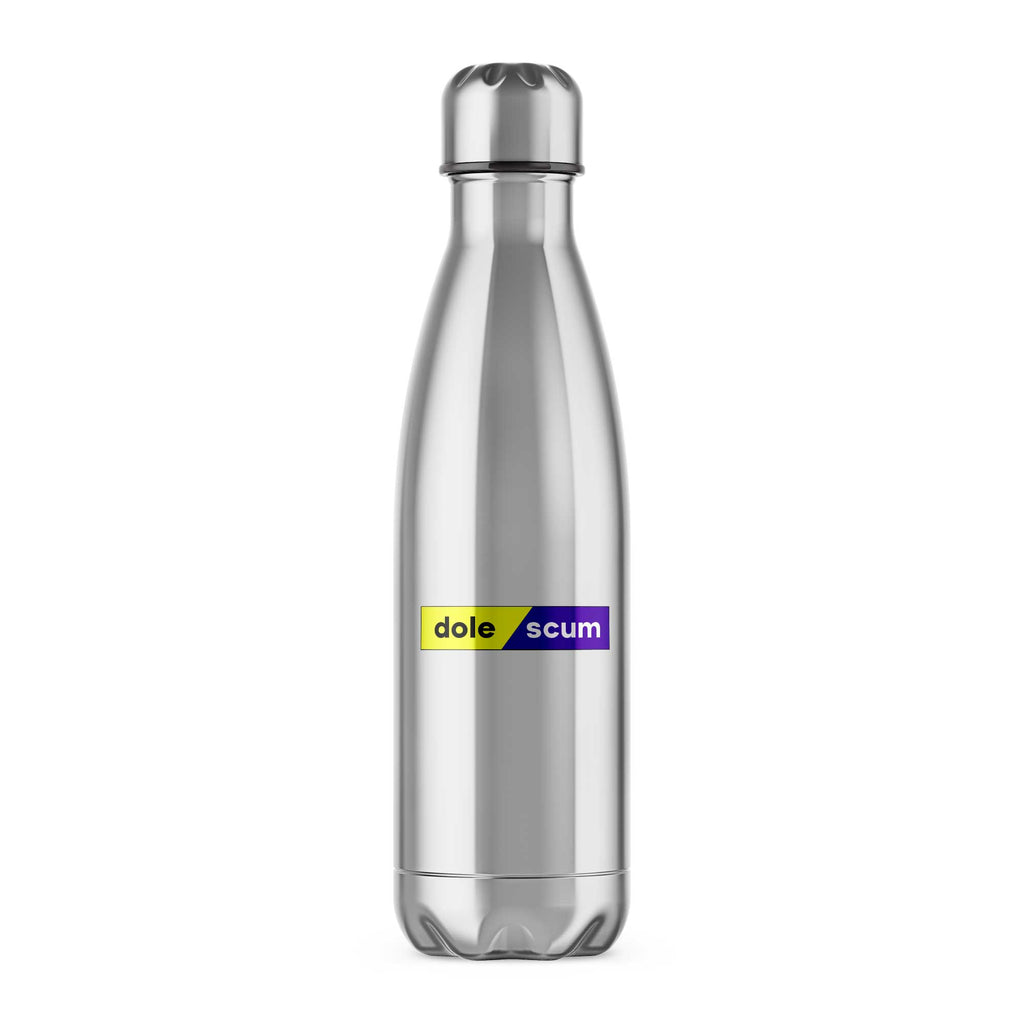 Dole Scum Water Bottle - Novelty Bottles - Slightly Disturbed - Silver