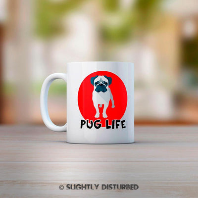 Pug Life Mug. Novelty Animal Lover Gift