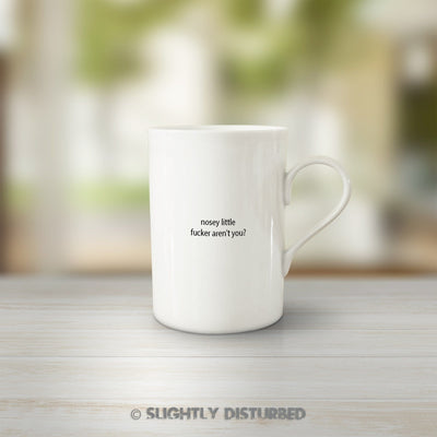 Nosey Little Fucker Aren't You? Mug - Rude Mugs - Slightly Disturbed