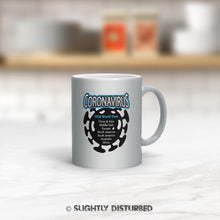 Load image into Gallery viewer, Coronavirus 2020 World Tour Mug - Sparkle Silver Pearl - Rude Mugs - Slightly Disturbed
