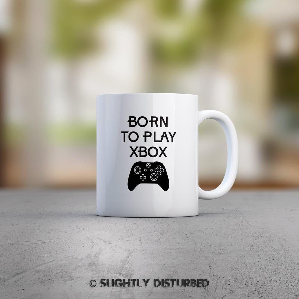 Born To Play Xbox Mug - Geeky Mugs - Slightly Disturbed