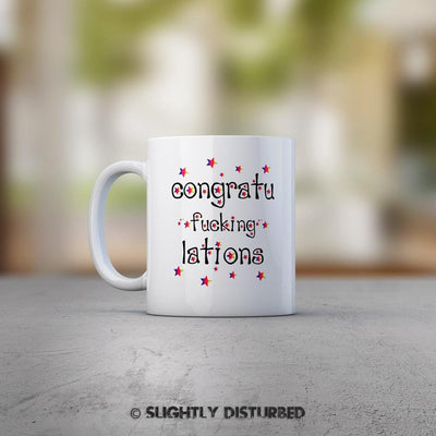 Congratu-fucking-lations - Stars Mug - Mugs - Slightly Disturbed
