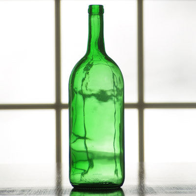 1.5 Liter Emerald Green Bordeaux Bottle, case of 6