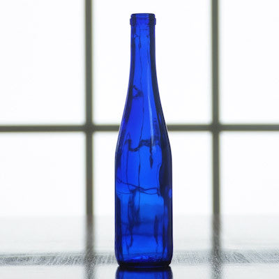 375 mL Cobalt Blue Stretch Hock Bottles, Case of 12