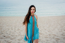 Indian Mirror dress in teal