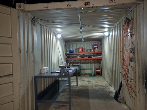 conex container with light