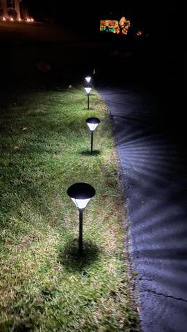 adjusted pathway lights
