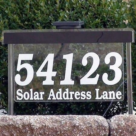 Prestige Custom Solar Address Sign