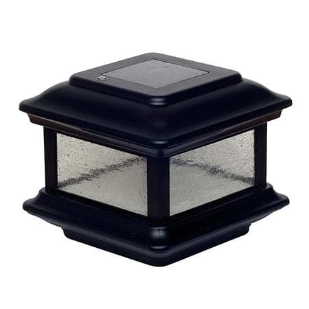 Colonial Solar Cap Light - Black
