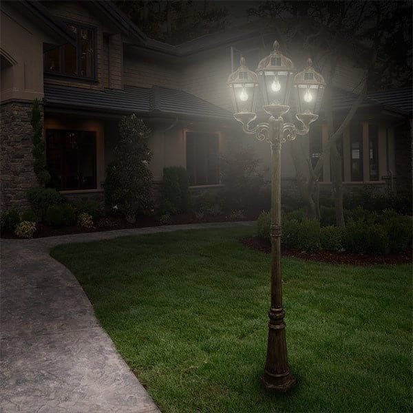 Royal Solar Lamp Post Triple Outdoor Solar Store