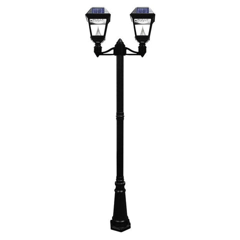 Solar lamp post lights outdoor solar store solar imperial ii double lamp post mozeypictures Choice Image