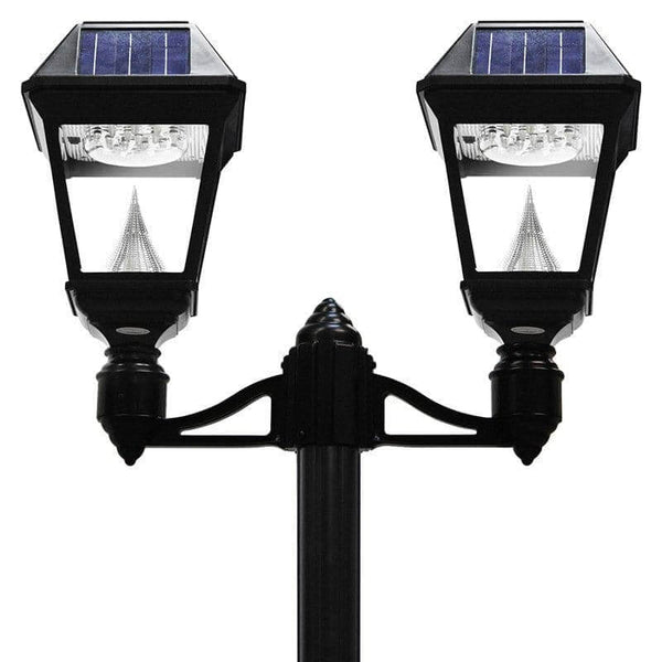 Solar Imperial Ii Double Lamp Post Outdoor Solar Store