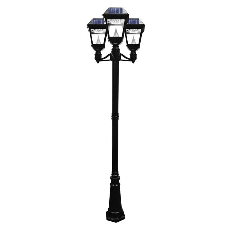 Superb Solar Imperial II Triple Lamp Post