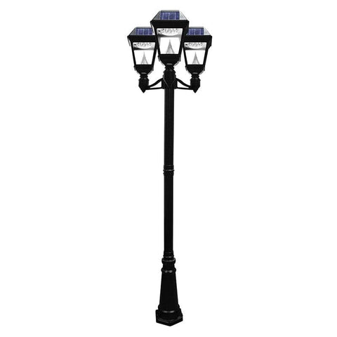 Solar lamp post lights solar powered light posts outdoor solar store solar imperial ii triple lamp post aloadofball Image collections