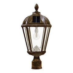 Royal Weathered Bronze Solar Lamp Pole Mount