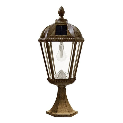 Royal Solar Flat Mount Patio Lamp