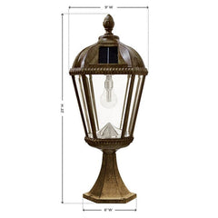 Royal Solar Flat Mount Patio Lamps
