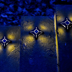 Solar Ninja Star Step Lights