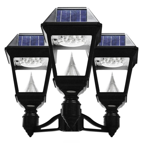 Solar lamp post lights outdoor solar store solar imperial ii triple pole mount mozeypictures Choice Image