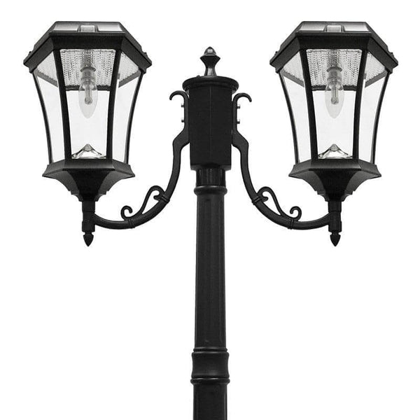 Victorian Bulb Solar Lamp Post Double Outdoor Solar Store