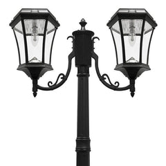 Victorian Bulb Solar Lamp Post - Double