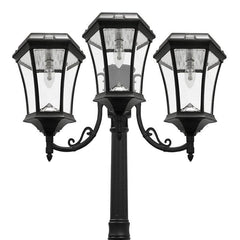 Victorian Bulb Solar Lamp Post - Triple