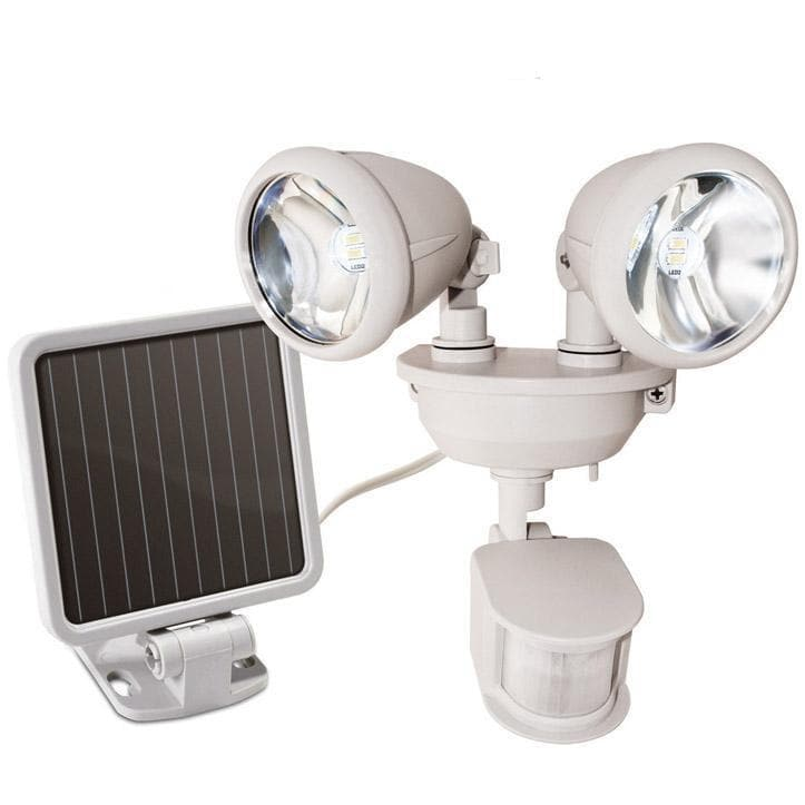 Dual Head Solar Motion Security Light
