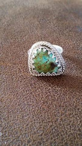 Natural Burtis Blue Turquoise Sterling Silver Ring