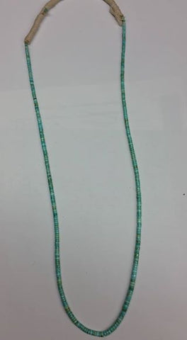 Natural untreated Burtis Blue Turquoise Heishi Bead Necklace