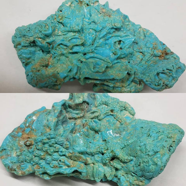 Natural untreated carved turquoise