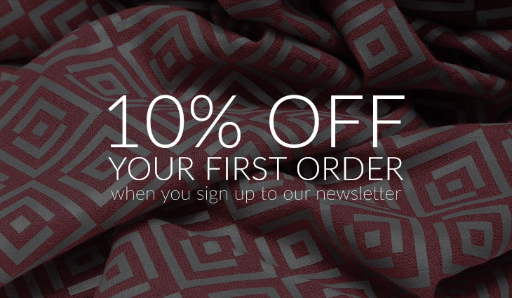10% off when you sign up to the newsletter