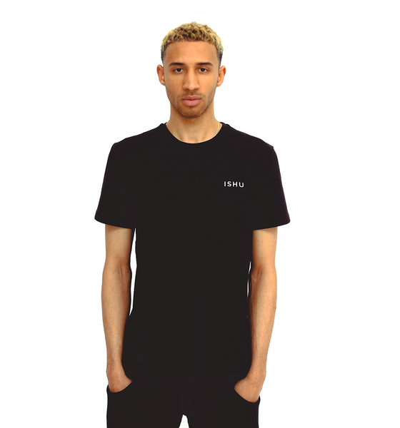 Black Short Sleeve T-Shirt ISHU Essential